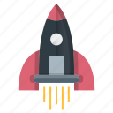 launch, rocket, space, startup, strategy icon
