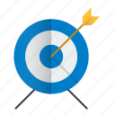 arrow, bullseye, goal, seo, strategy, target icon