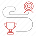 goal, long, planning, range, strategy icon
