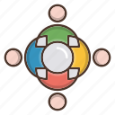 business, strategy, team, teamwork icon