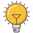 bulb, business, idea, lamp, strategy icon