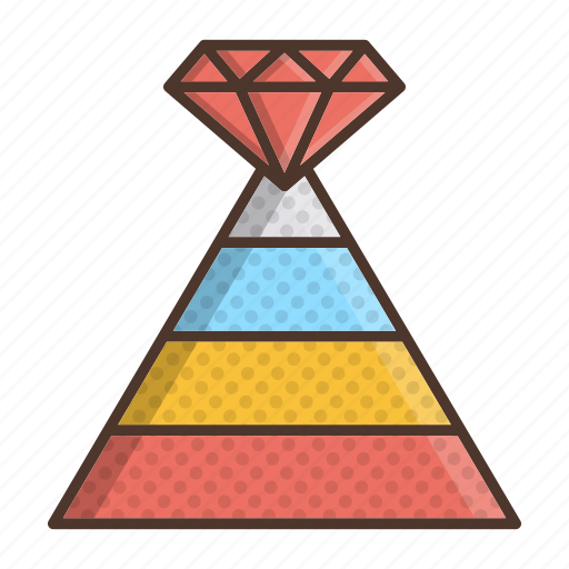 business, career, pyramid, strategy icon