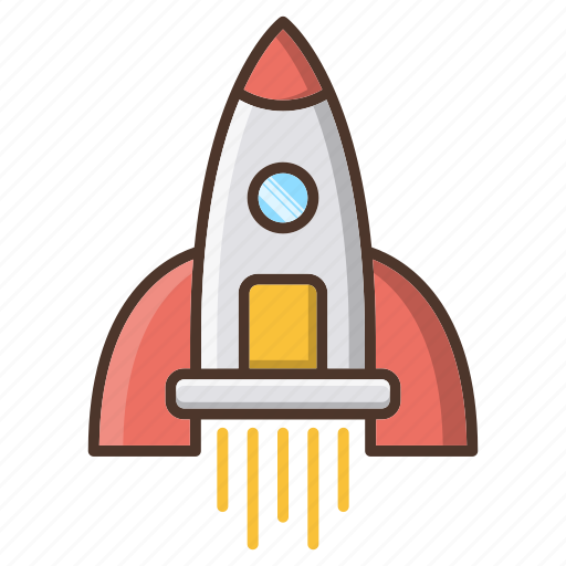 business, rocket, seo, space, strategy icon