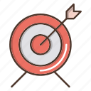 business, goal, strategy, target icon