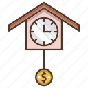 business, finance, money, strategy, time, time is money icon