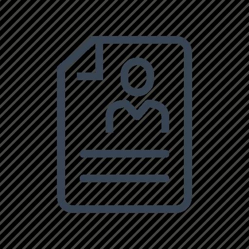 curriculum vitae, cv, resume icon