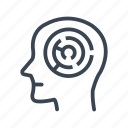 brain, head, maze, mind, problem, solution, strategy icon