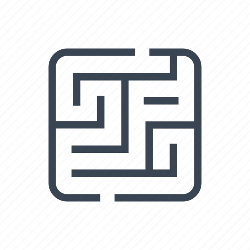 Labyrinth, logic, maze, solution, strategy icon - Download on Iconfinder