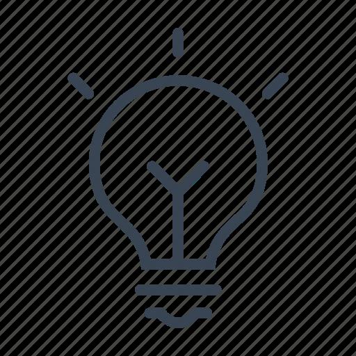 business, idea, lightbulb, solution icon