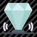 diamond, gem, jewel, ruby, value icon