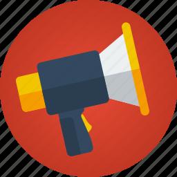 business, communication, loud, management, marketing, megaphone, speech, voice icon