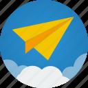 cloud, clouds, communication, flight, mission, paper, paper plane, plane