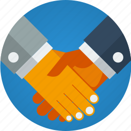 agreement, contract, customer, deal, hands, partner, partners, partnership, shaking hands, success icon