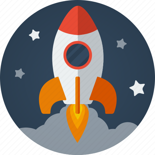 business, clouds, fast, launch, launching, marketing, rocket, skyrocket, space, stars, startup icon