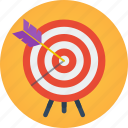 archery, goal, marketing, mission, objective, proactive, target icon