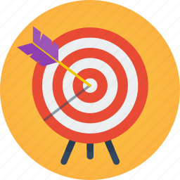 ambition, arrow, business, goal, intention, marketing, mission, objective, target icon