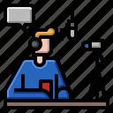 internet, man, online, streamer, record, vlog icon
