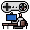 gamer, internet, online, play, streaming icon