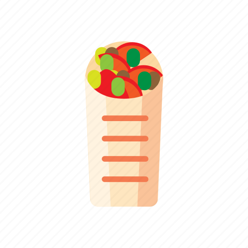 fast, food, sandwich, shaurma, shawerma, street icon
