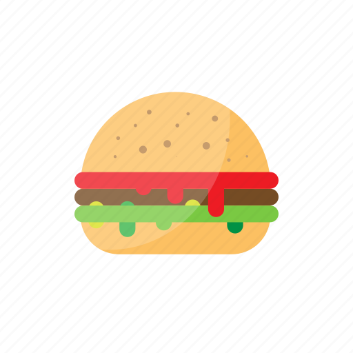 burger, fast food, food, hamburger, street icon