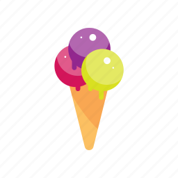 cone, dessert, food, ice cream, sweet icon