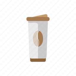 coffee, cup, drink, food, street, takeaway icon