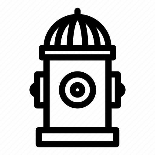 fire, fireplug, hydrant, road, water icon