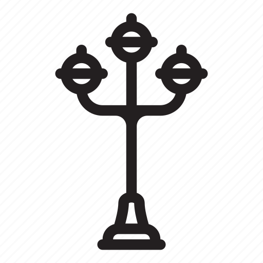 lamp, light, road, street, streetlight icon