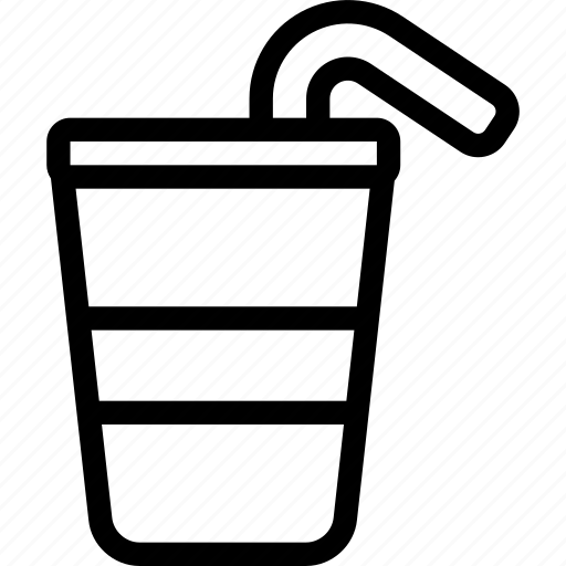 cup, drink, food, glass, straw icon