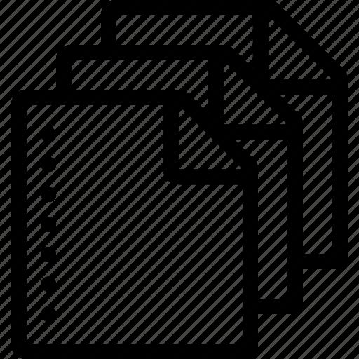 clone, copy, file, paper icon
