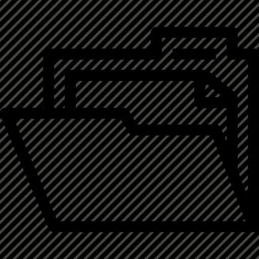 archive, directory, document, file, folder, location, record icon