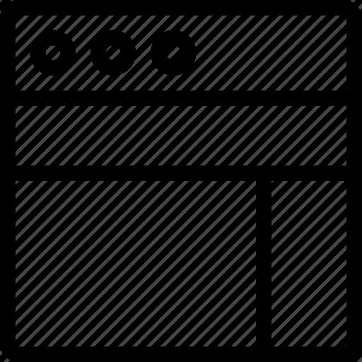 column, layout, row, task, window icon