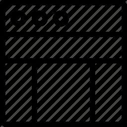 column, layout, task, window icon