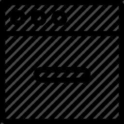 hide, minus, task, window icon