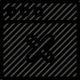 close, task, window icon