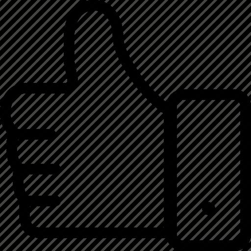 follow, hand, interface, like, okay, true icon