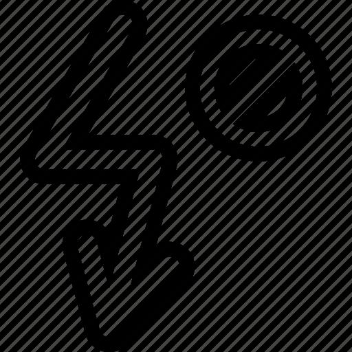 flash, hide, interface, light icon