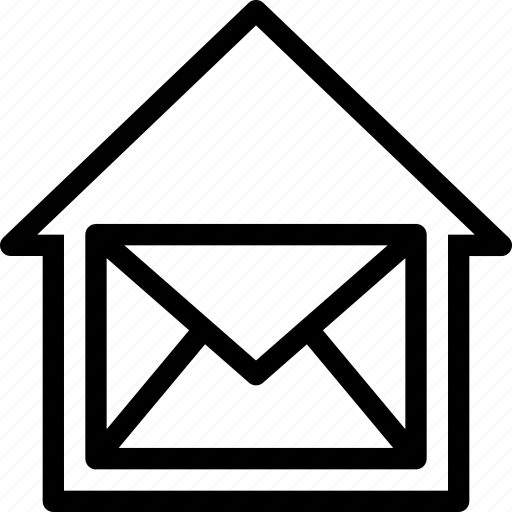communication, email, estate, home, house, interaction, interface icon