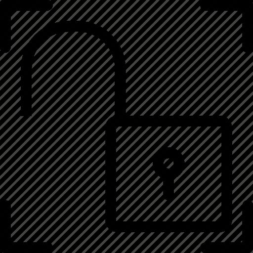 interface, keypad, lock, padlock, trim, unlock icon