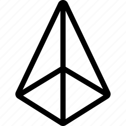 cone, design, interface, net, shape icon