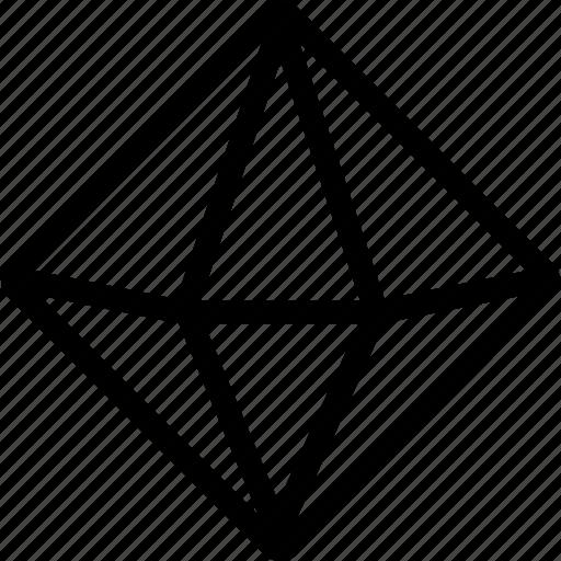 design, diamond, interface, line, net, shape icon