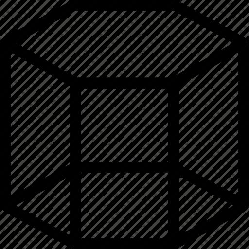 cube, design, interface, line, net, shape, software icon