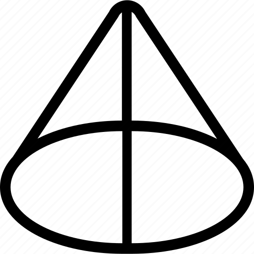 application, cone, design, interface, shape icon