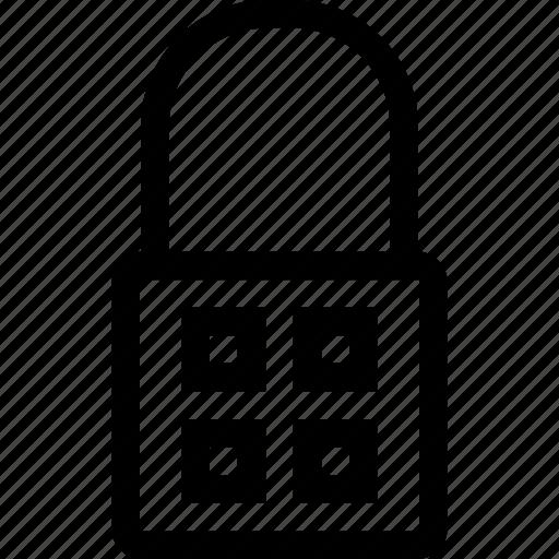 interface, key, keypad, lock, padlock, secure, user icon