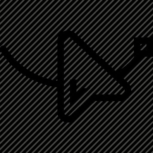 arrow, art, interface, node icon
