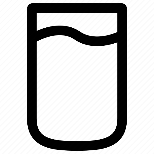drink, drinking, glass, water icon