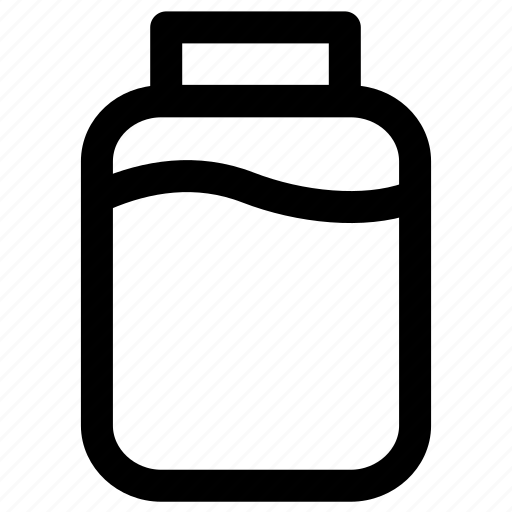 bottle, can, water icon