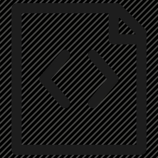 code, development, file, filetype, programming icon