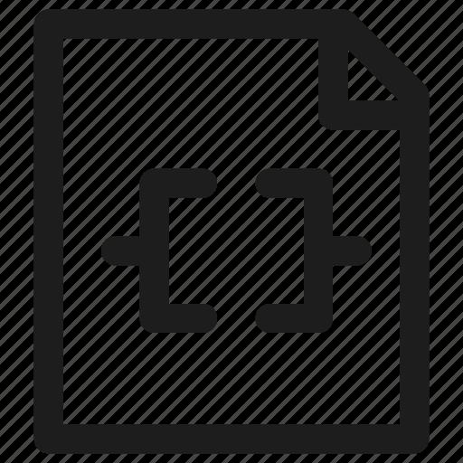 code, coding, development, filetype, programming icon