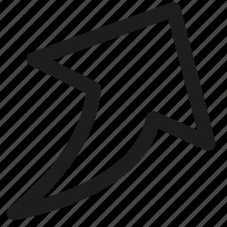 arros, arrow, direction, shape, share icon